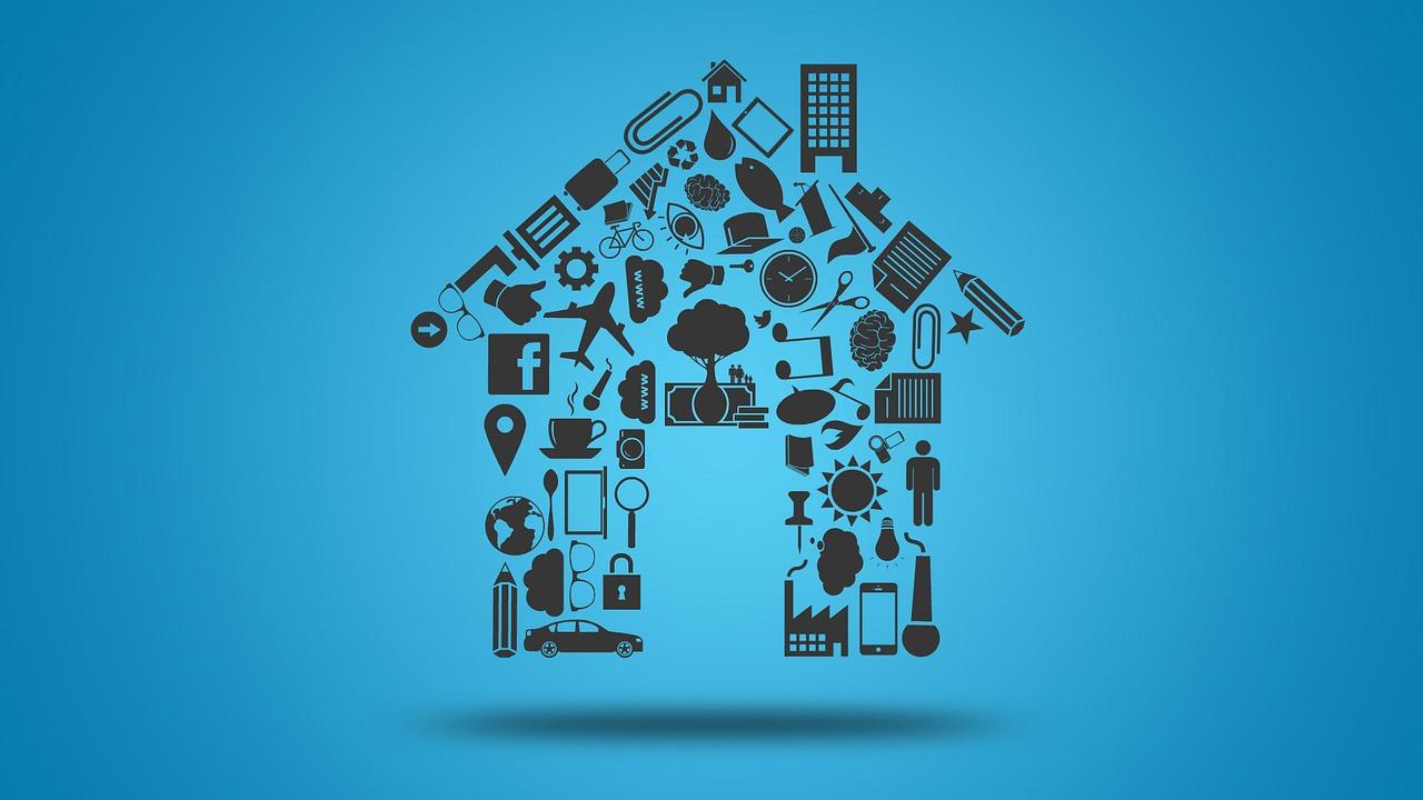 イラストで家の形を表した絵