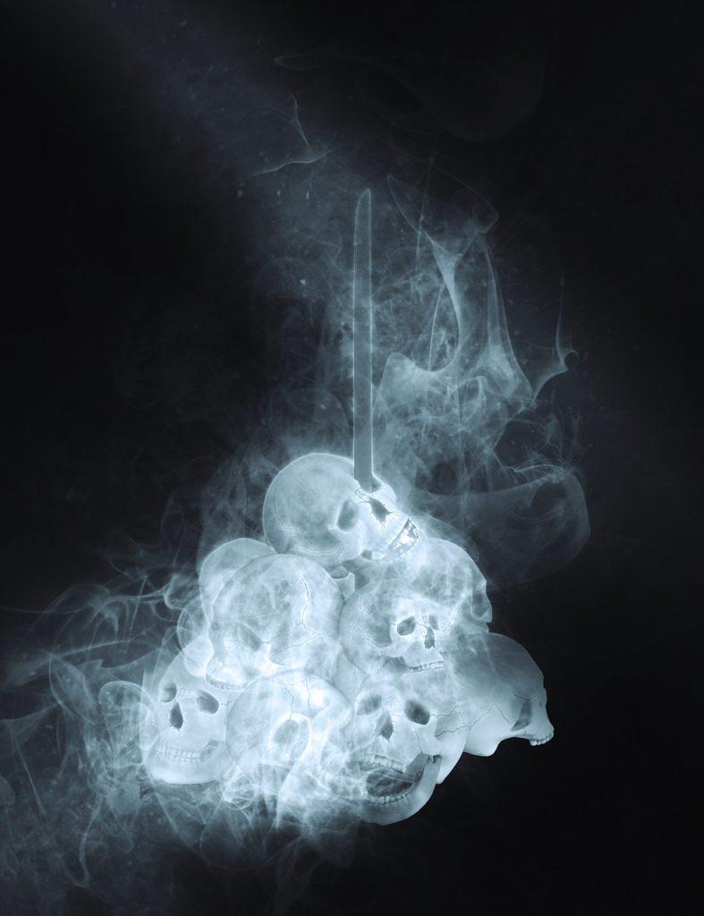 死を連想するイラスト