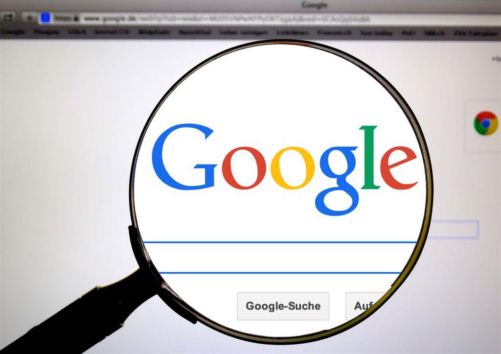 googleのパソコン画面