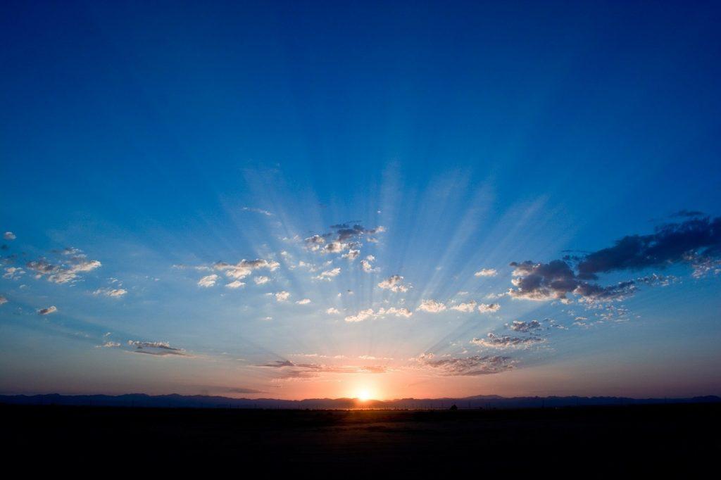 天国を想像する空の様子