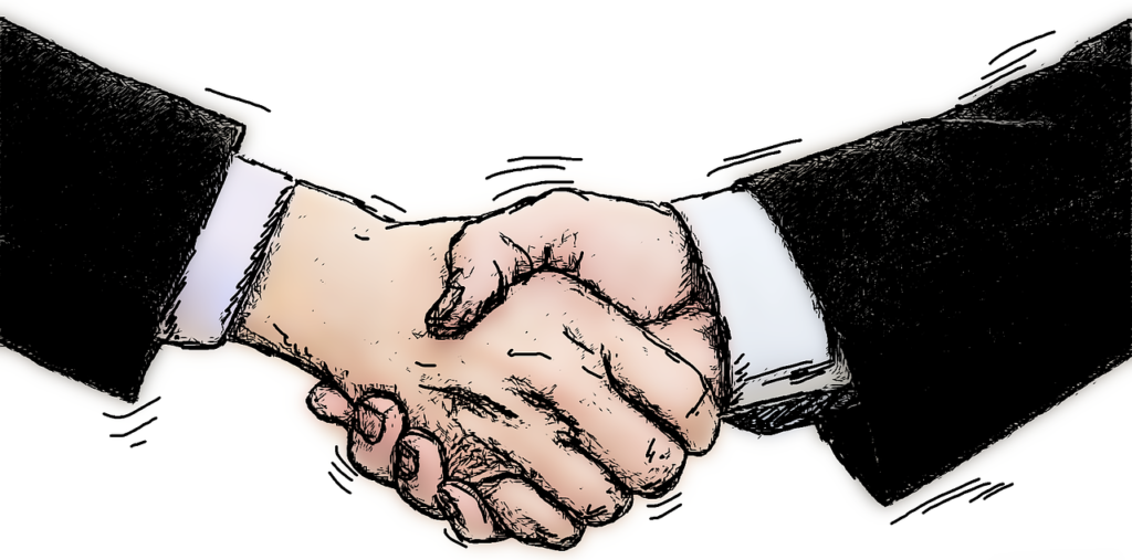 握手するイラスト