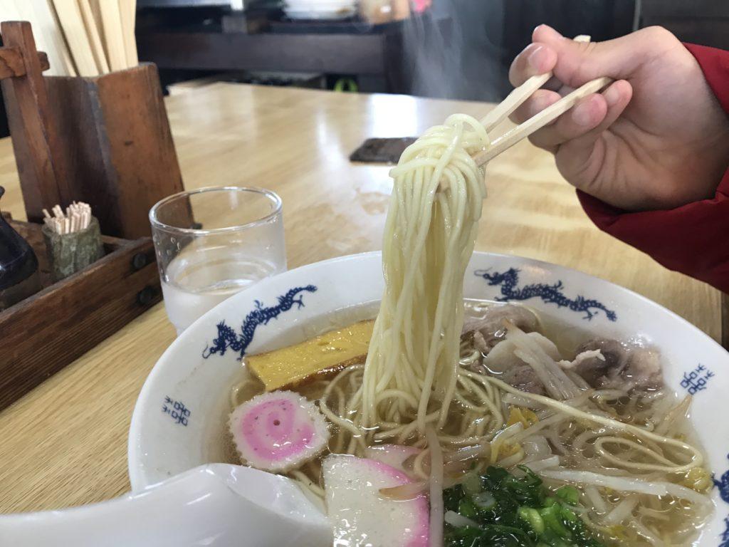 お食事処中華そば『さくや』の中華そばの麺