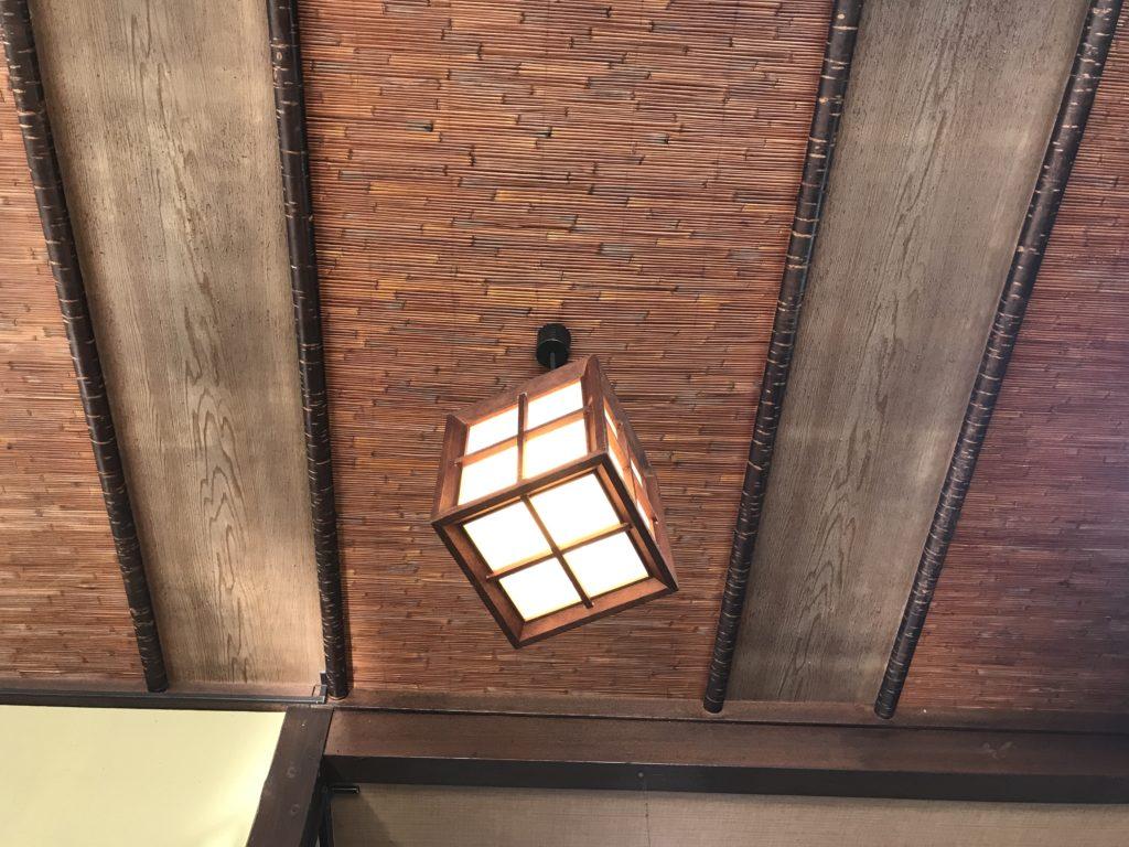 お食事処中華そば『さくや』の天井の様子