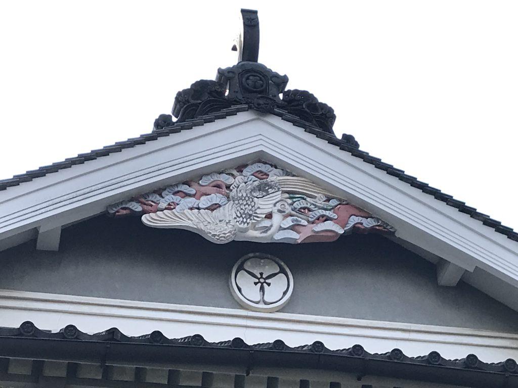 内子町護国地区の本芳我家の住宅の立派な壁