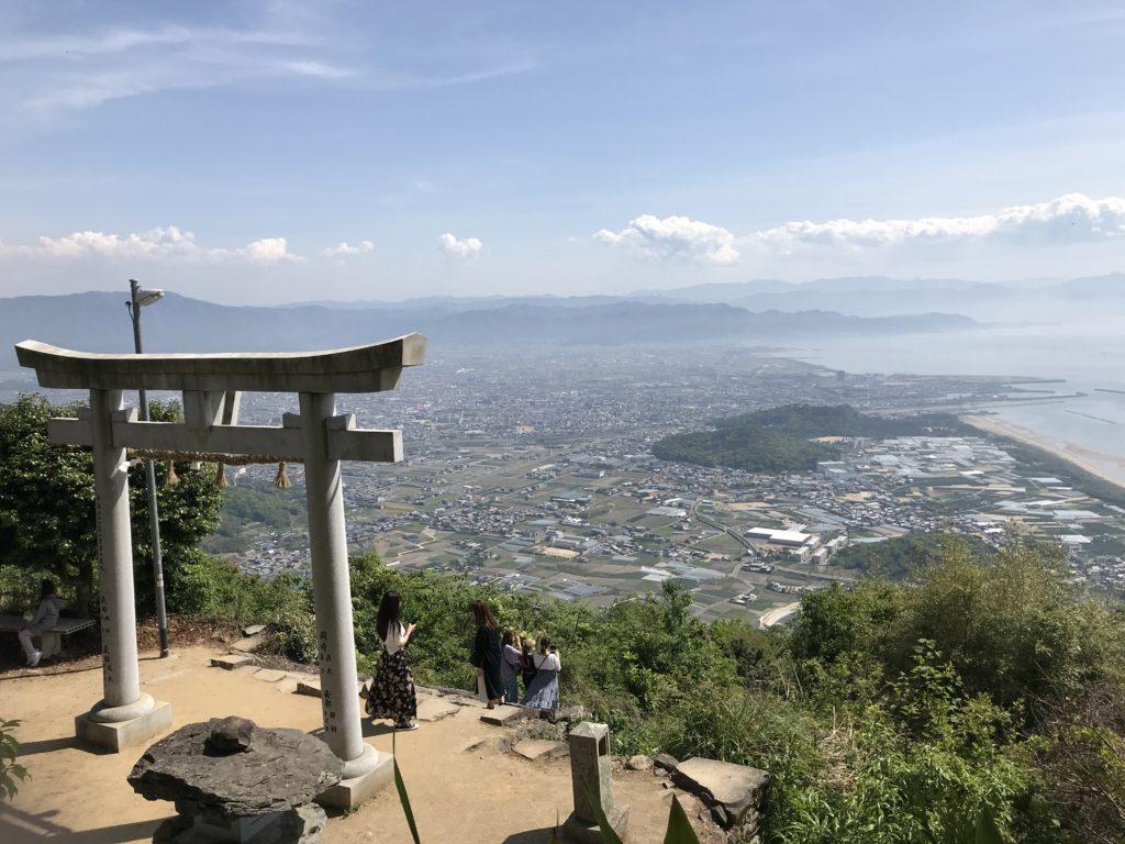 高屋神社【天空の鳥居】からの下界の景観