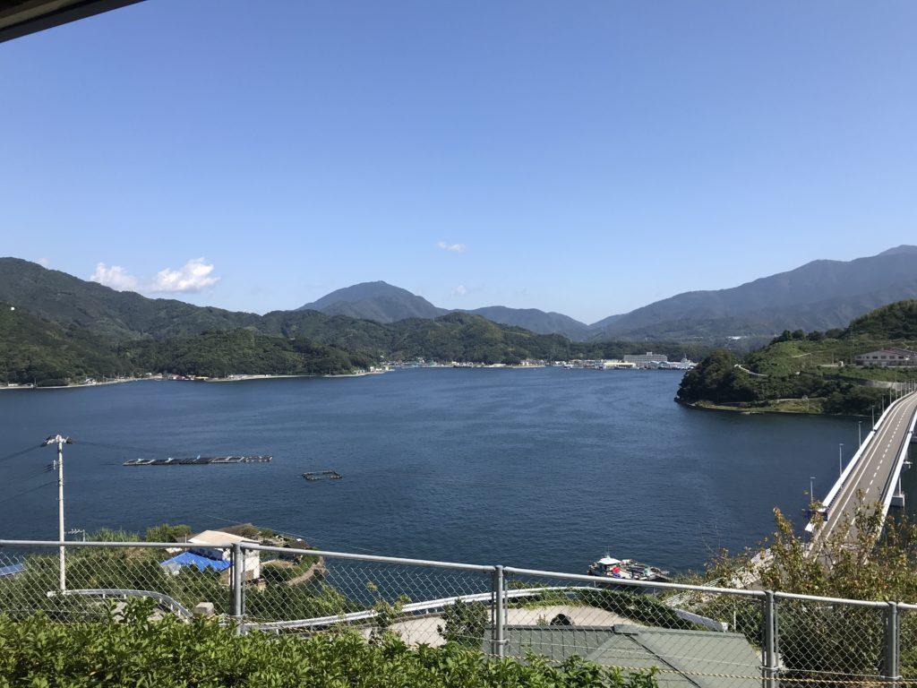 【九島】の島民有志で設置された休憩所からの眺め