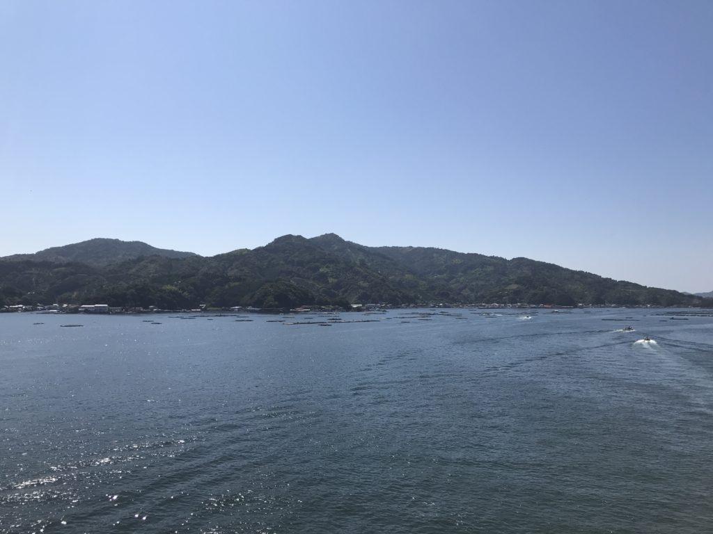 『九島大橋』の橋上からの西方向の眺め