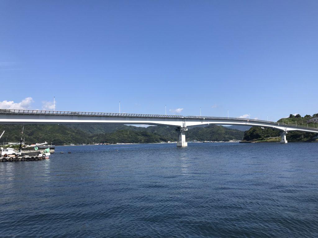 『九島大橋』の【九島】側からの眺め