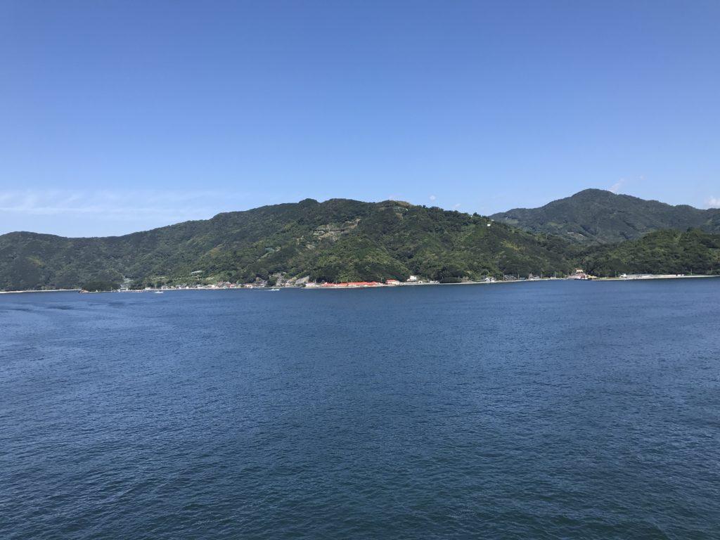 『九島大橋』の橋上からの東方向の眺め