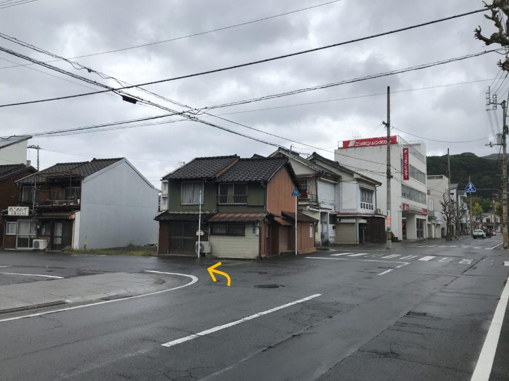 宇和島駅周辺の道路の様子