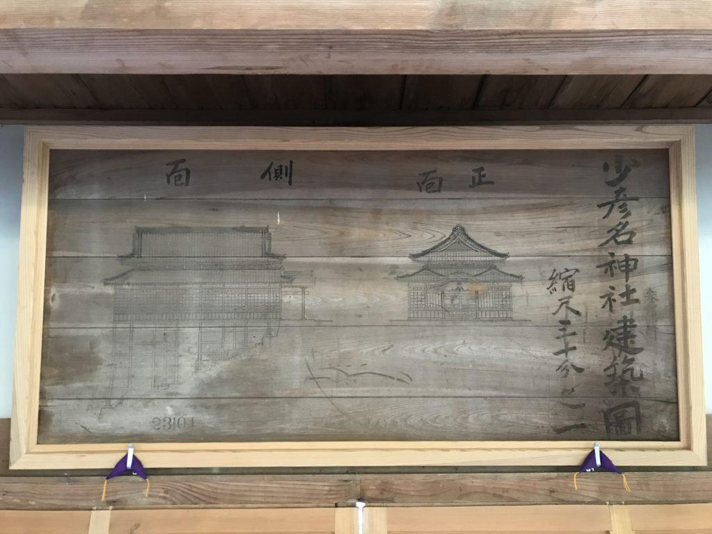 『少彦名神社参籠殿』の中の様子