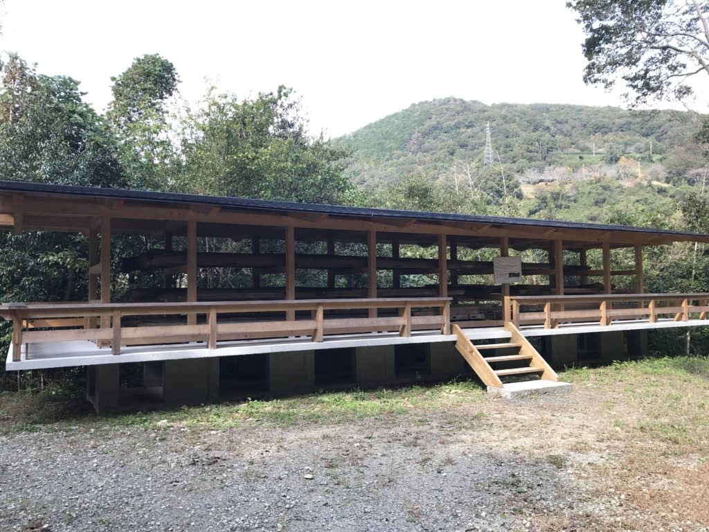 『少彦名神社参籠殿』の過去の木材保管場所