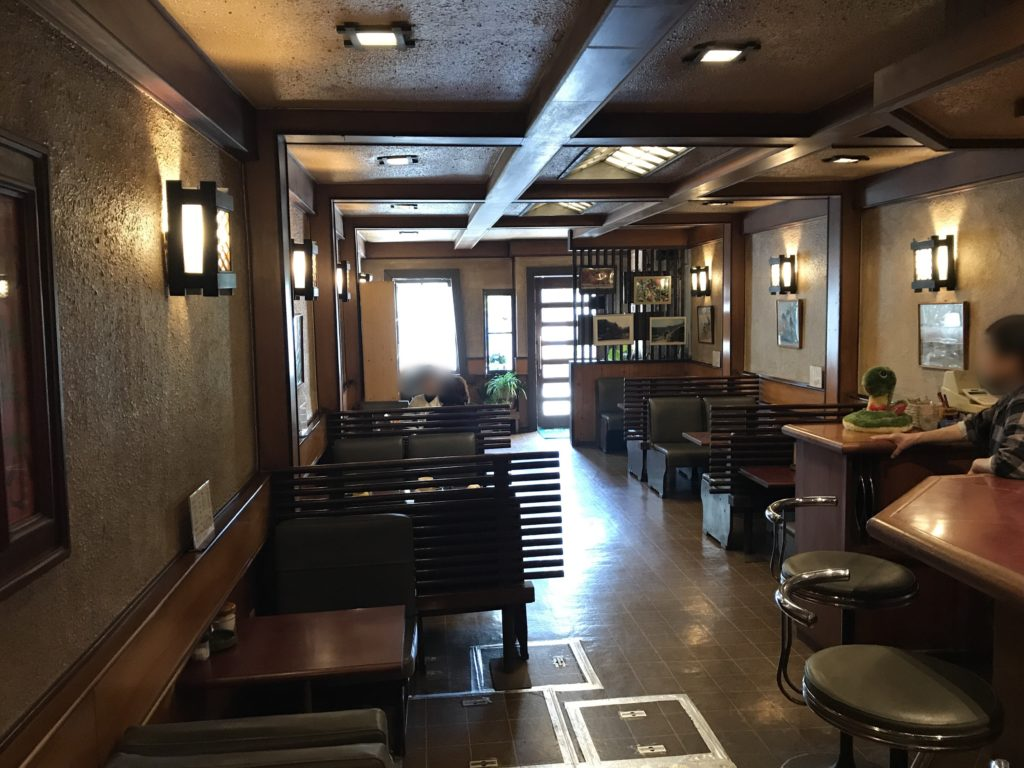 喫茶店【城下町】の店内の様子