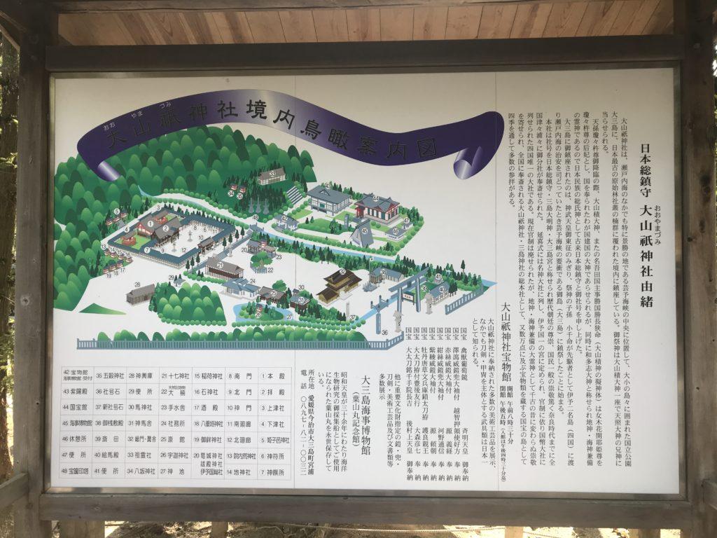 大山祇神社境内の案内図