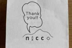 『nicco』のLunchBoxについている名刺