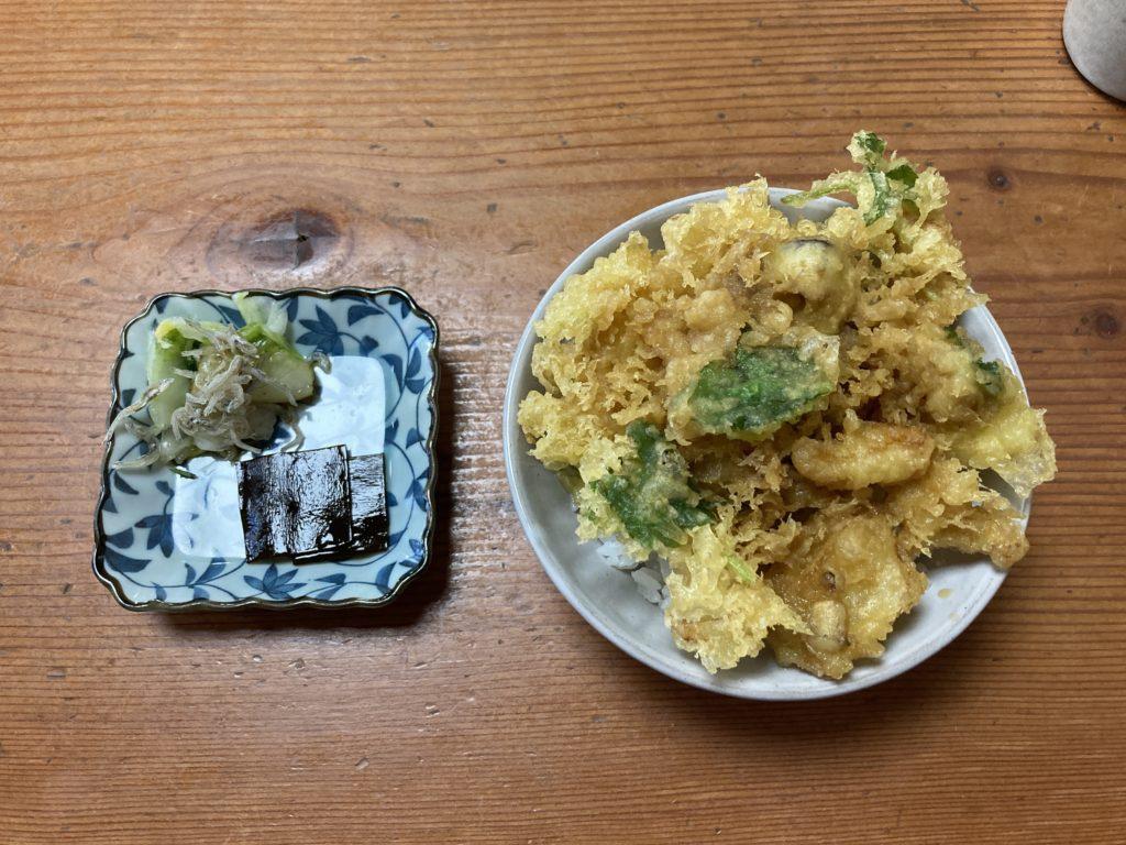 『蕎麦まえの』の【かき揚げ丼】